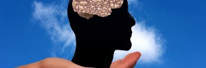 Brain in palm of hand