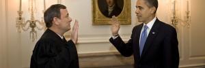 Barack Obama takes an oath