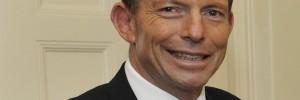 Tony Abbott smiling