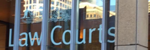 Law courts sign
