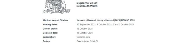 Kassam Versus Hazzard